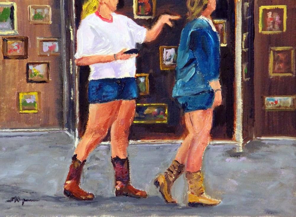 """""""Cowboy Boots and Short Shorts"""" original fine art by Shelley Koopmann"""