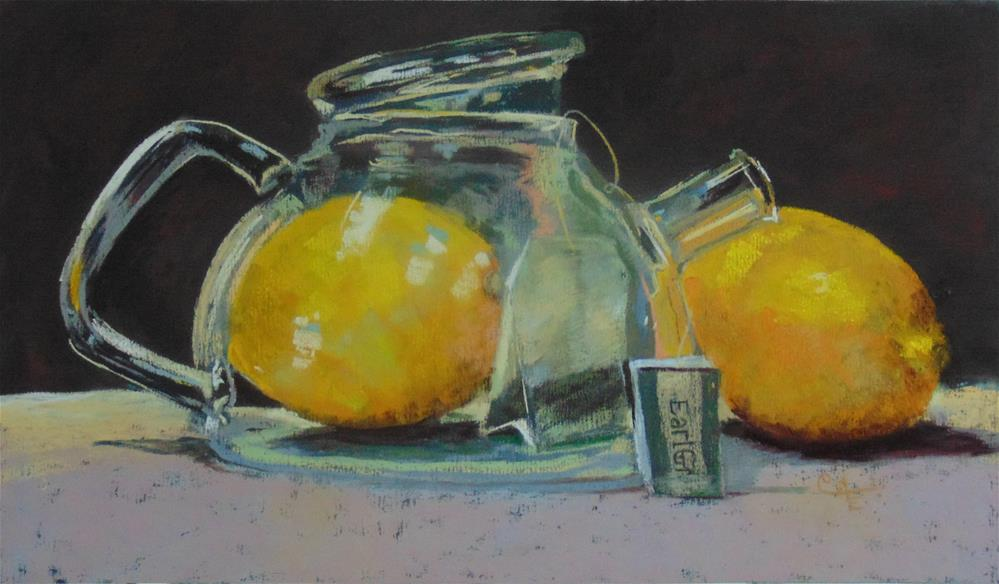 """Earl Grey with Lemon"" original fine art by Catherine Kauffman"
