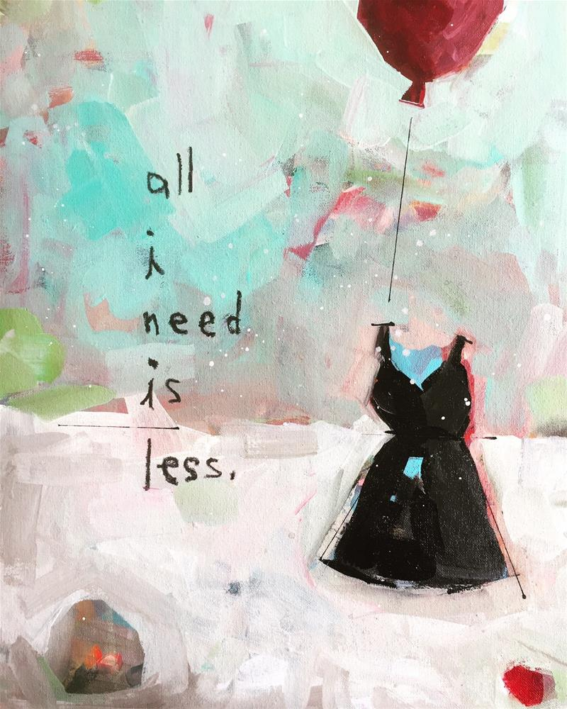 """""""446 All I Need is Less"""" original fine art by Jenny Doh"""