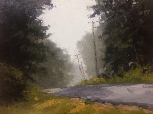 """""""Morning Fog"""" original fine art by David Boyd Jr"""