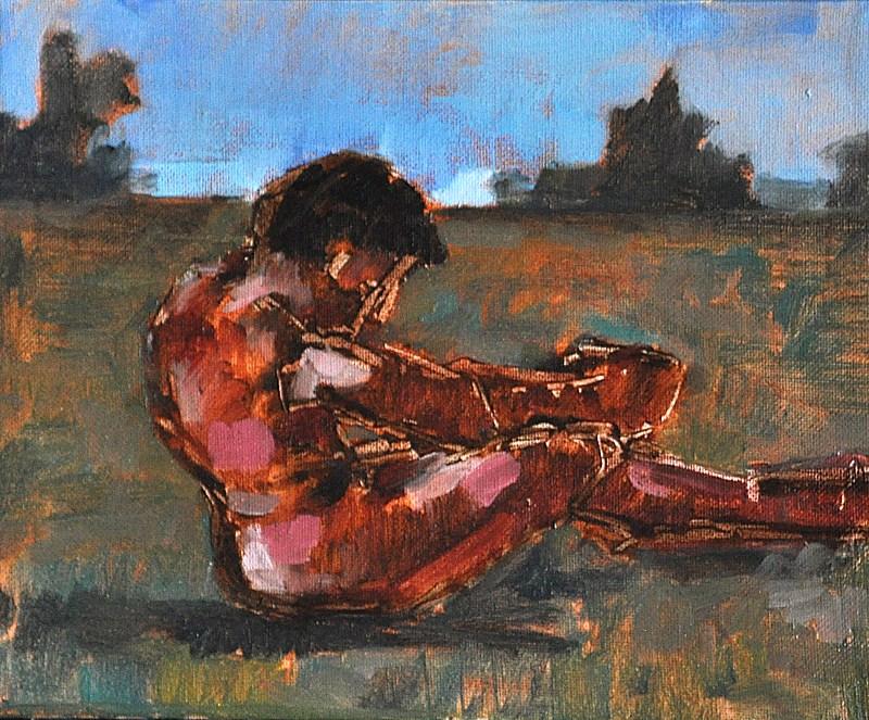 """Classical Male Nude Figure"" original fine art by Kevin Inman"