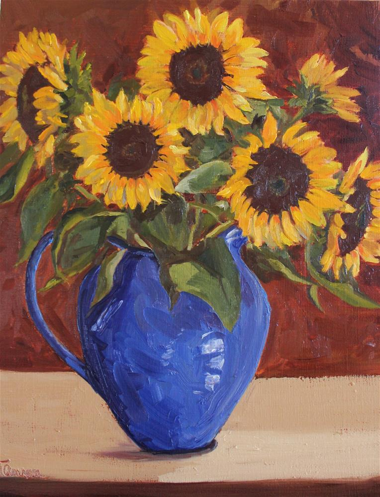 """Helianthus"" original fine art by Tamsen Armstrong"