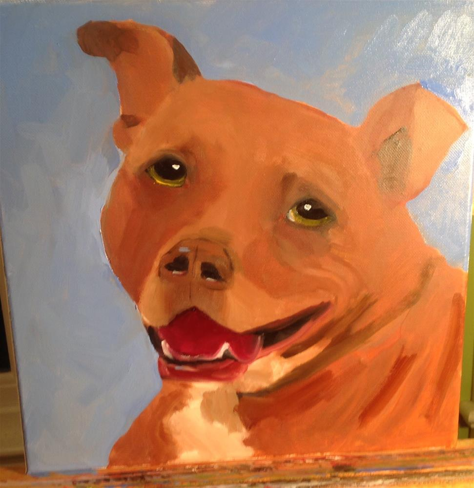 """Dog"" original fine art by Lorraine Funk"