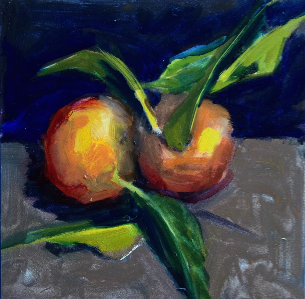 """twin Mandarins"" original fine art by Pamela Hoffmeister"