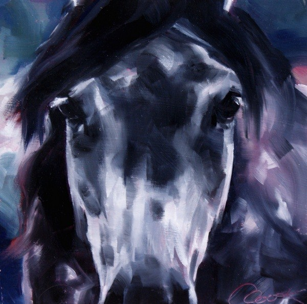 """Face to Face"" original fine art by Crystal Cook"