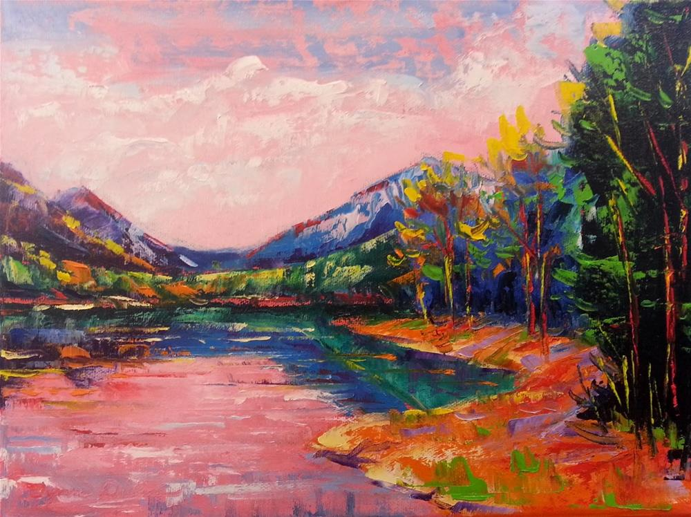 """Electric Mountain Reflections"" original fine art by Tammie Dickerson"