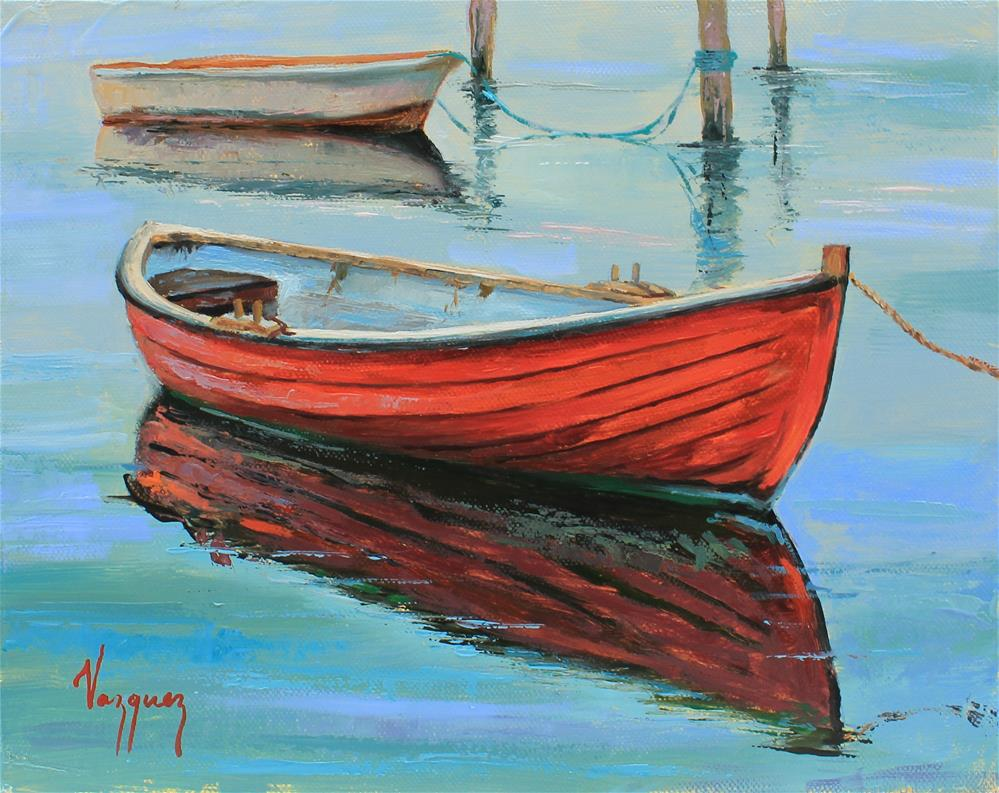 """Boats"" original fine art by Marco Vazquez"