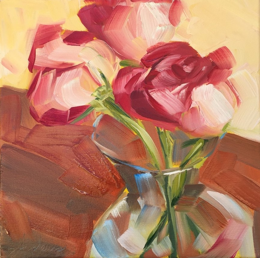 """Front Porch Roses"" original fine art by Denise Hopkins"