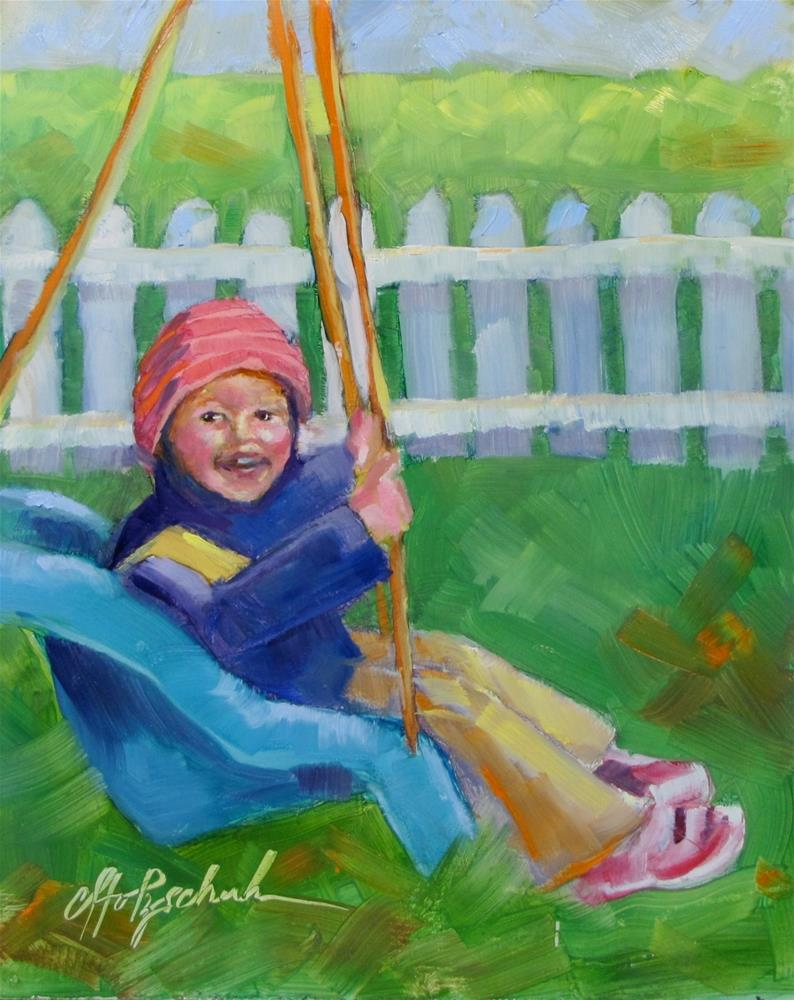 """In the Swing of Things"" original fine art by Christine Holzschuh"