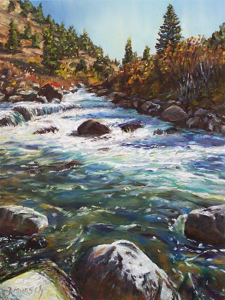"""Rushing Stream"" original fine art by Donna Munsch"