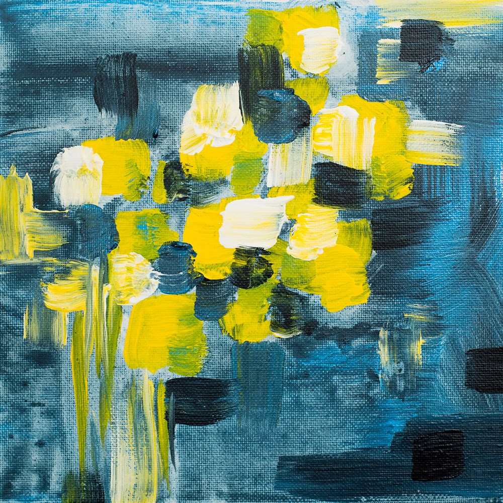 """Polka Flowers"" original fine art by Franziska Schwade"