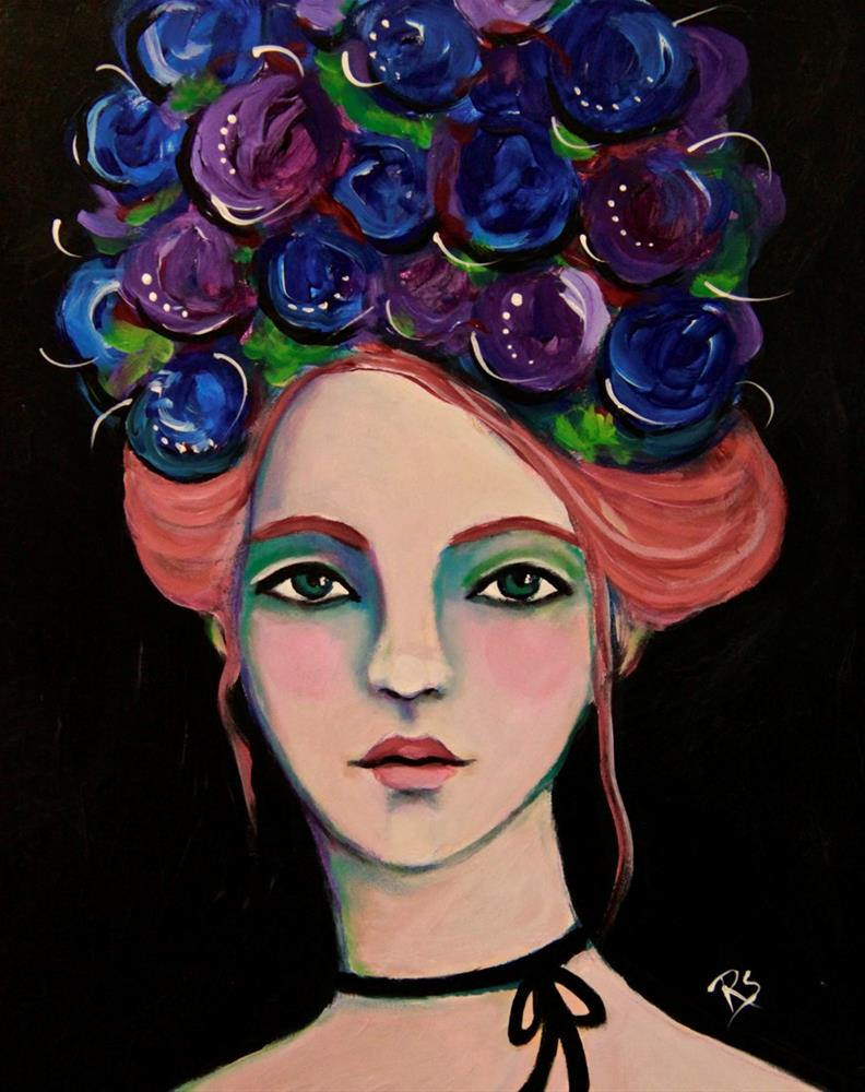 """Flowers In Her Hair"" original fine art by Roberta Schmidt"