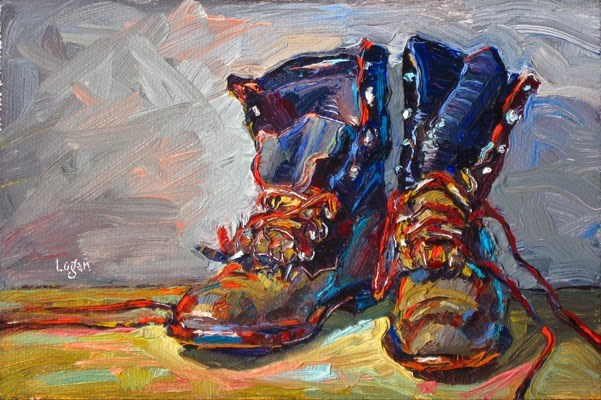 """J's Other Ropers"" original fine art by Raymond Logan"