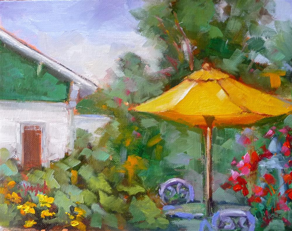 """Secret Garden"" original fine art by Carol Josefiak"