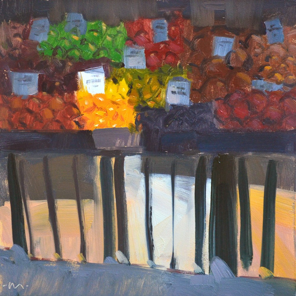 """Fruit Stand"" original fine art by Carol Marine"