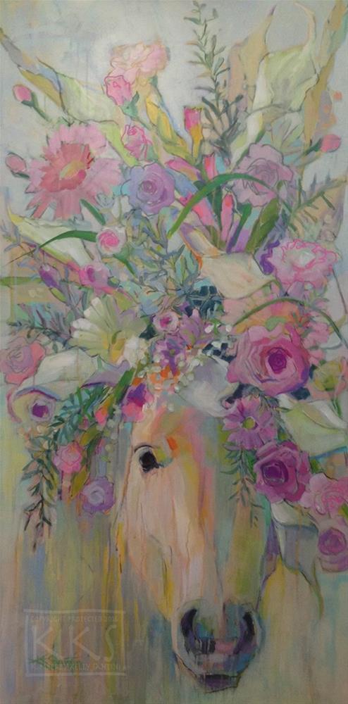 """""""Calla, Finished"""" original fine art by Kimberly Santini"""