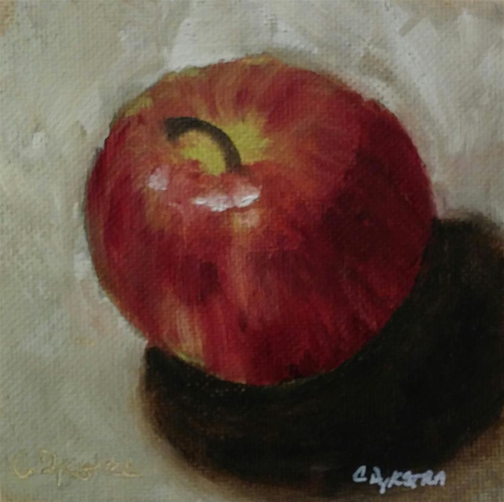 """Sweet Apple"" original fine art by Cathy Dykstra"