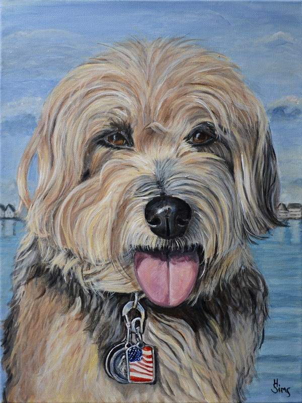 """Charley"" original fine art by Heather Sims"