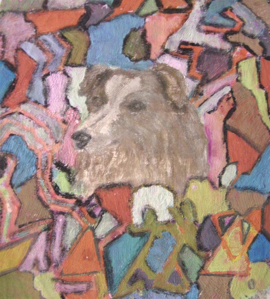 """Brown Dog"" original fine art by Alina Frent"