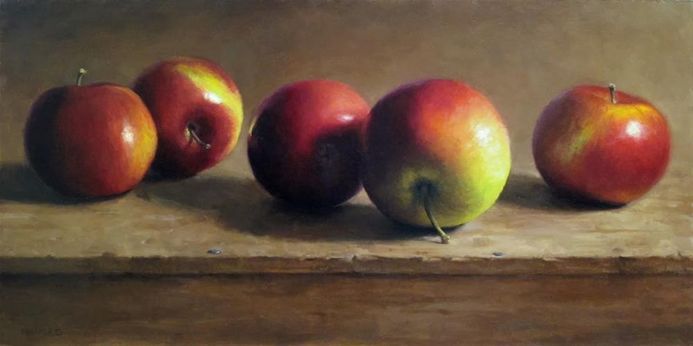 """Row of Apples"" original fine art by Michael Naples"