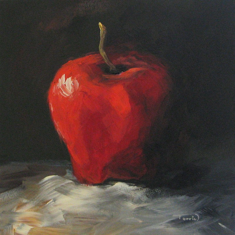 """Apple  01"" original fine art by Torrie Smiley"