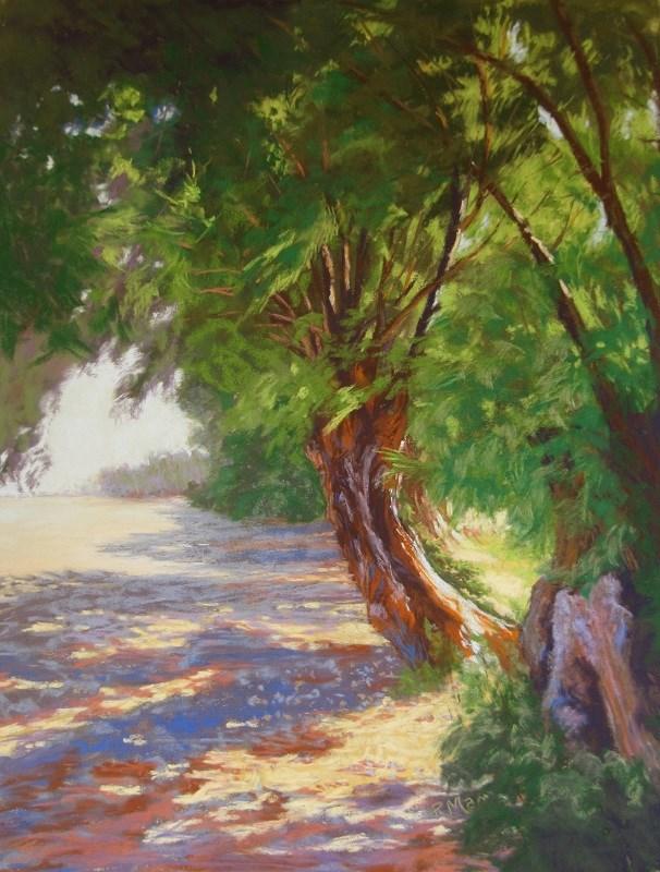 """Welcome Shade, Patmos"" original fine art by Ruth Mann"