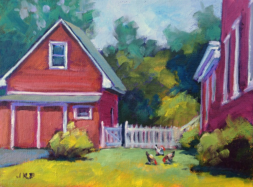 """Free Range"" original fine art by Jeanne Bruneau"