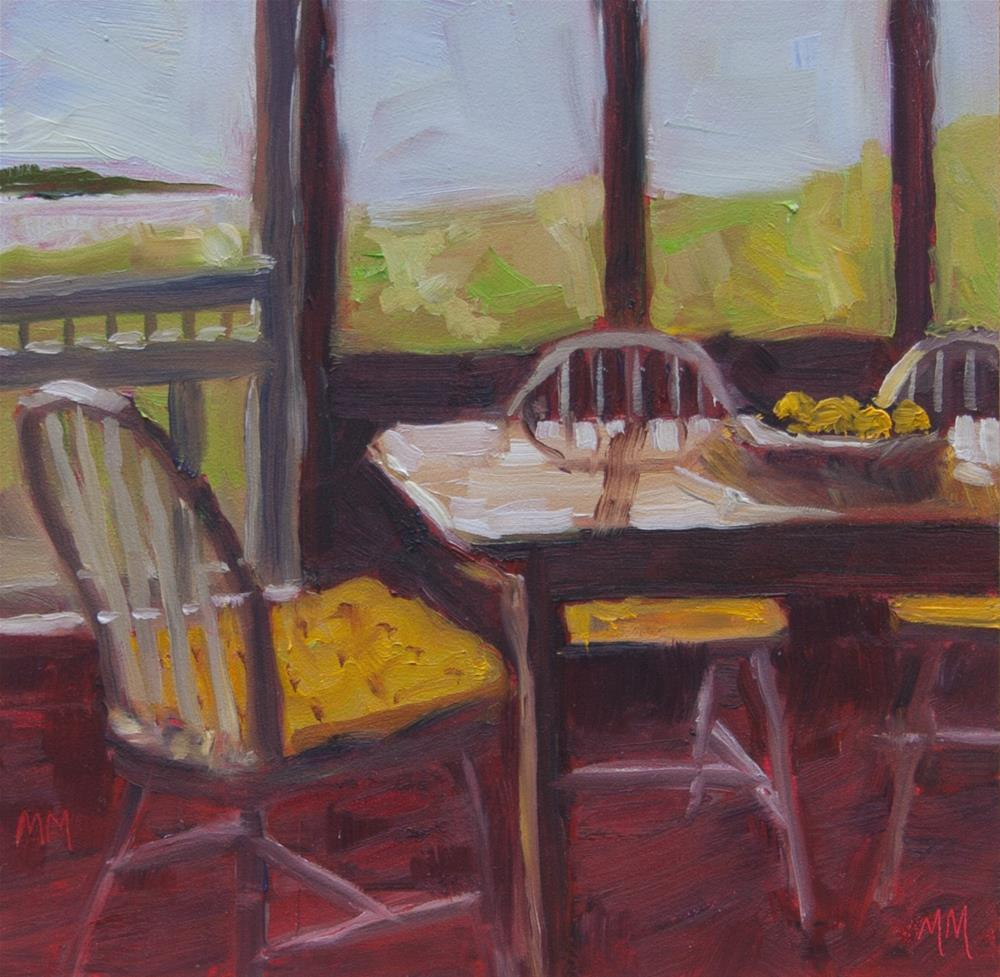 """Connie's Porch"" original fine art by Maria McNitt"