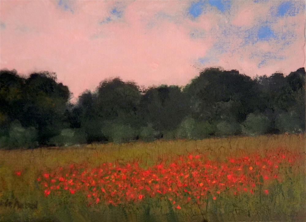 """Patch of Red Poppies "" original fine art by Merrill Whitehead"