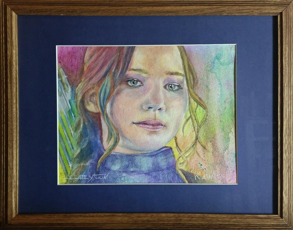 """Katniss"" original fine art by Gabriella DeLamater"
