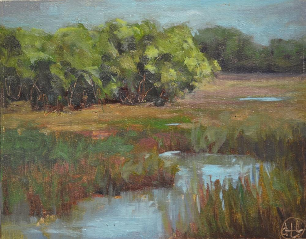 """spring day on shem creek"" original fine art by Dottie  T  Leatherwood"