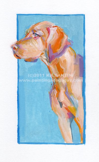 """Cayenne, A Painted Sketch"" original fine art by Kimberly Santini"