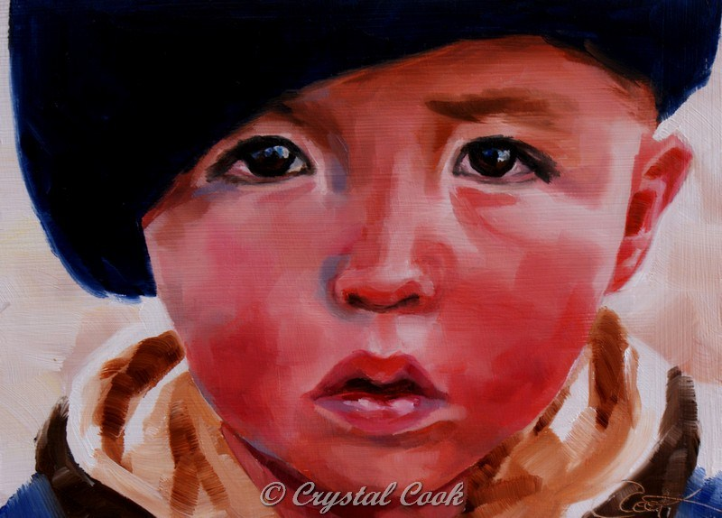 """Observant"" original fine art by Crystal Cook"