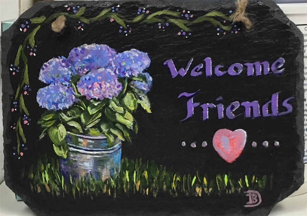 """""""Welcome Friends"""" original fine art by Bobbie Deuell"""