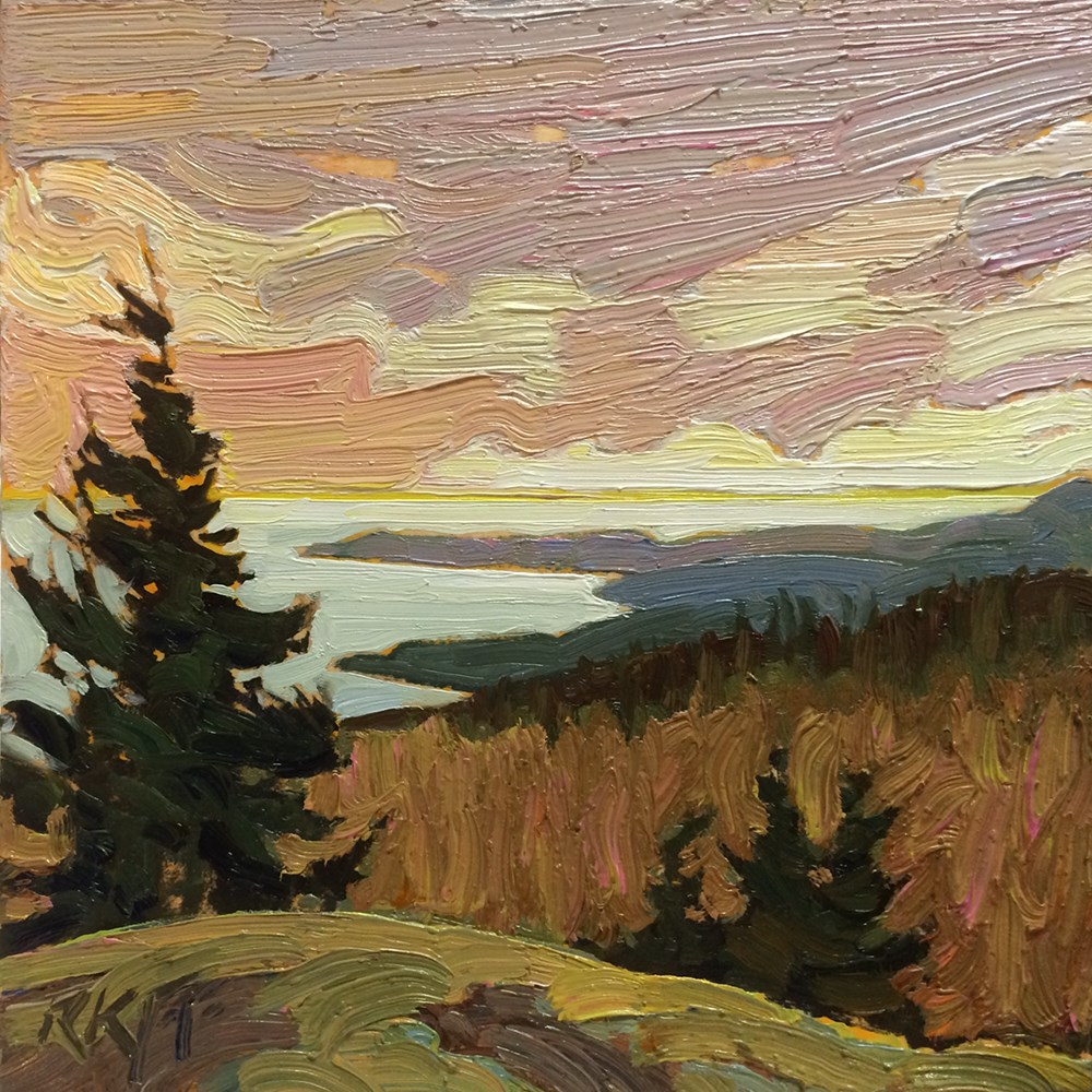 """Ocean View: 6x6 oil on panel"" original fine art by Ken Faulks"