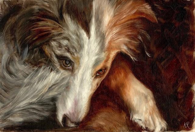 """""""Keeping watch"""" original fine art by Karen Robinson"""