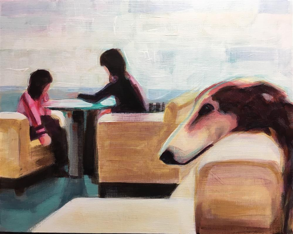 """Ignored Again Inspired by E.Erwitt"" original fine art by Bev Thibault"
