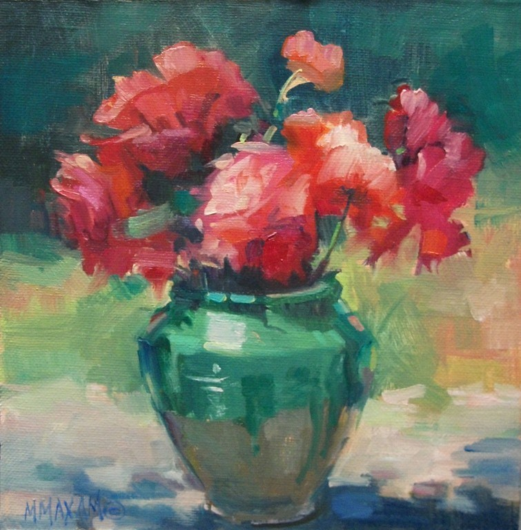 """Compliments - more flowers and a color scheme"" original fine art by Mary Maxam"