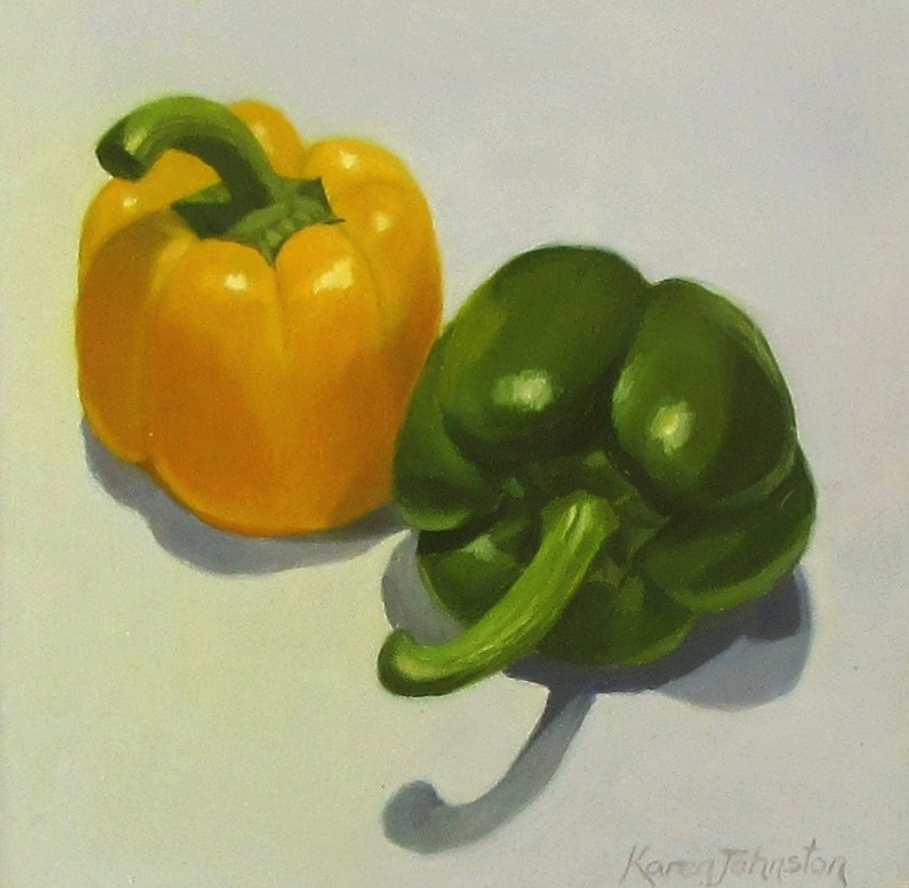 """Bell Peppers"" original fine art by Karen Johnston"