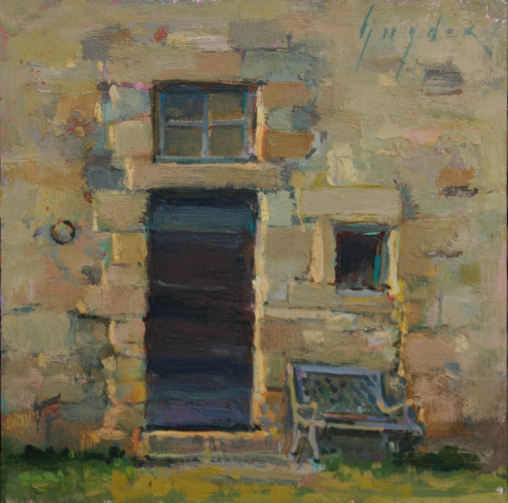 """30 Paintings in 30 Days #12 Door At Dusk"" original fine art by Julie Snyder"