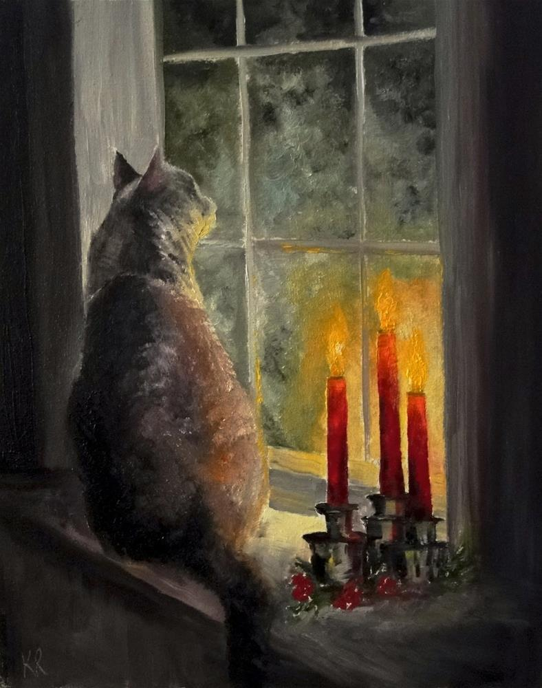 """Waiting"" original fine art by Karen Robinson"