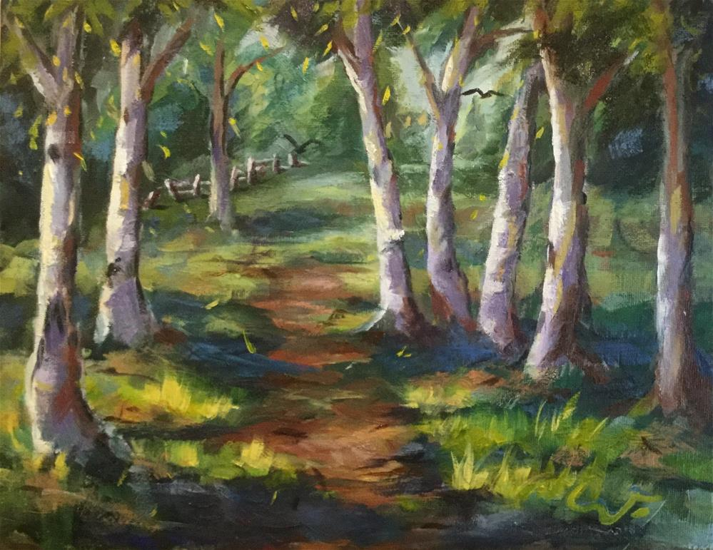 """The Alder Grove at Morris Graves Foundation"" original fine art by Sharon Abbott-Furze"