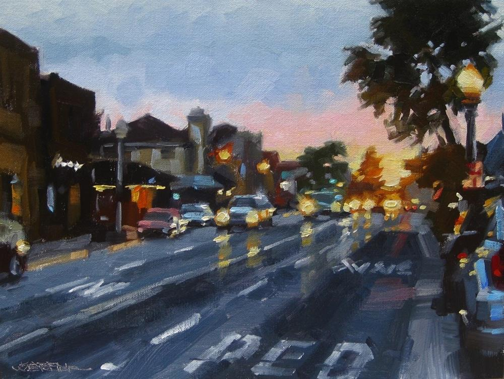 """Last Light, Balboa Blvd."" original fine art by Karen Werner"