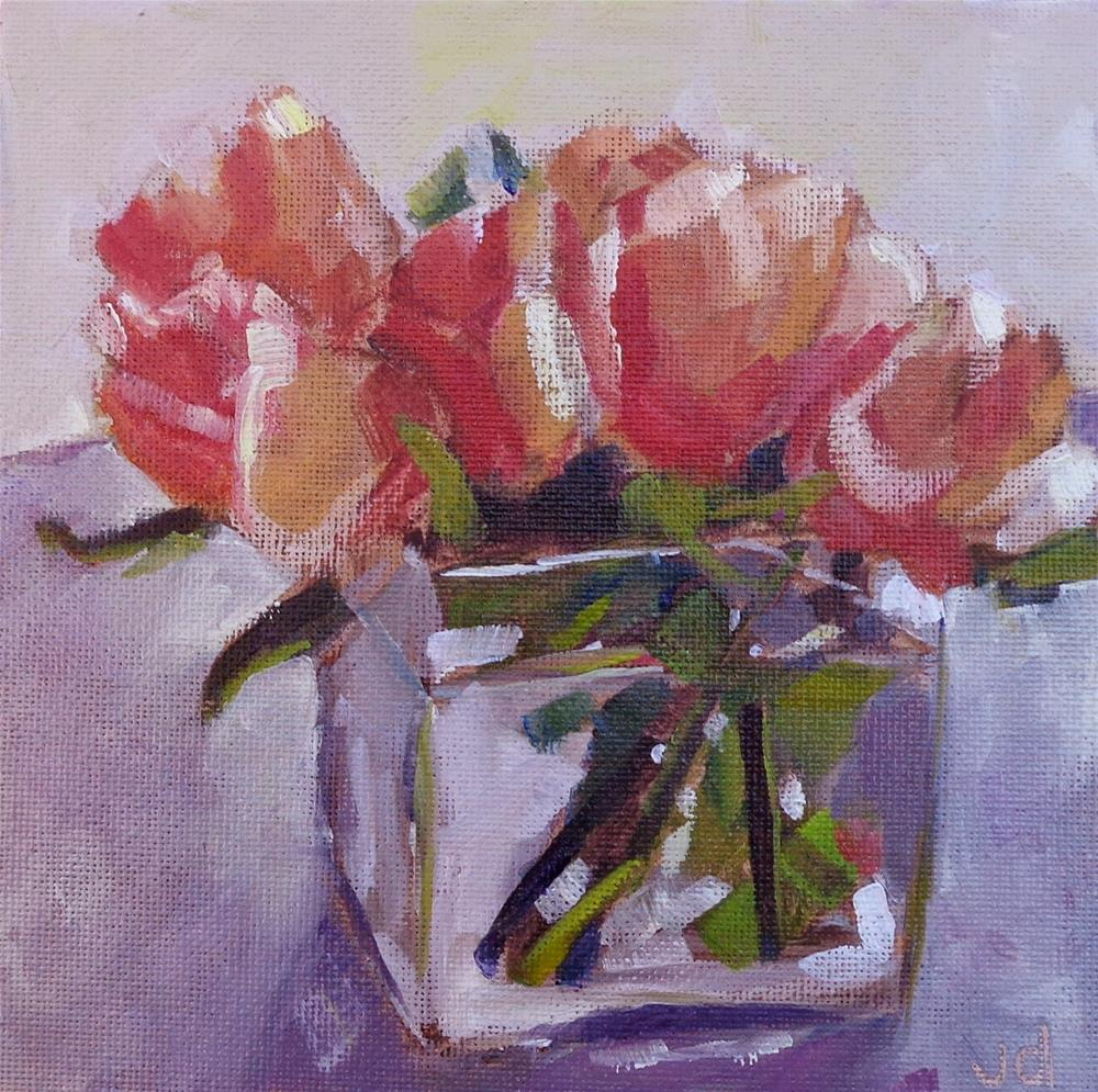 """Leigh's roses"" original fine art by Jean Delaney"