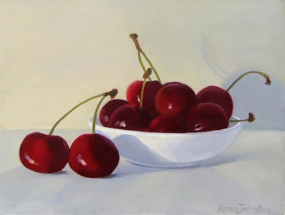 """Sweet Cherries"" original fine art by Karen Johnston"