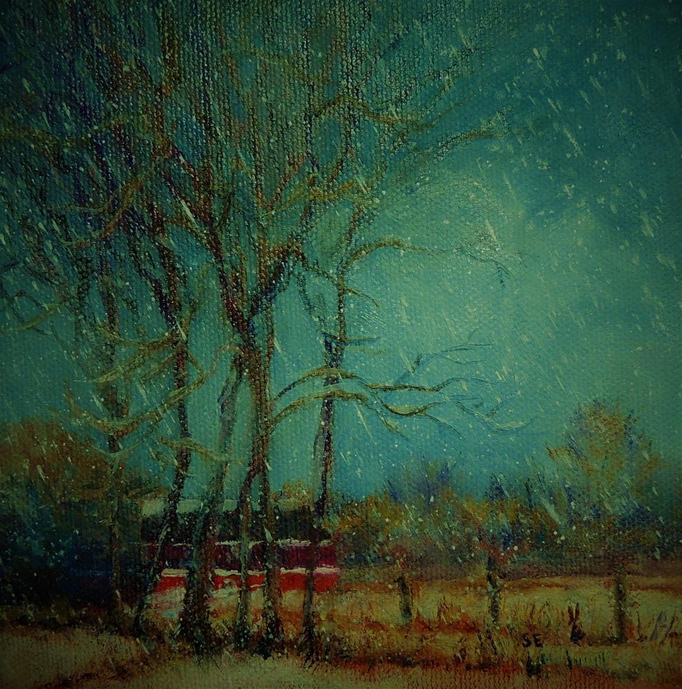 """Snowing Again"" original fine art by Sharon Egan"