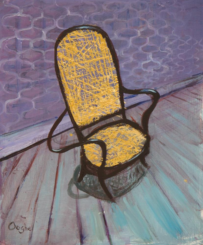 """Cane Chair"" original fine art by Angela Ooghe"