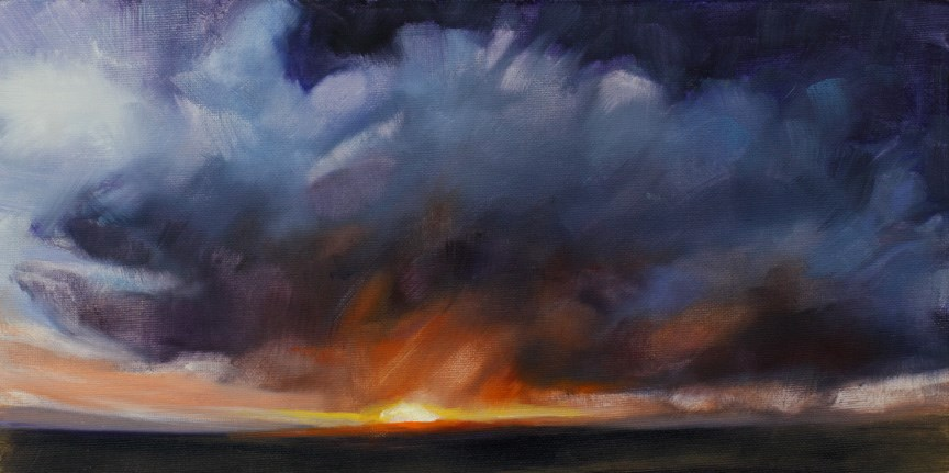 """Prairie Sunset"" original fine art by Pamela Poll"