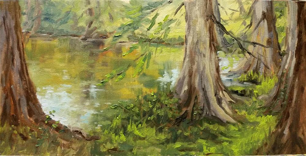 """Shaw Cypress-en plein air"" original fine art by Veronica Brown"