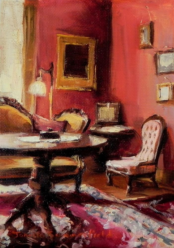 """Victorian Interior"" original fine art by Jonelle Summerfield"